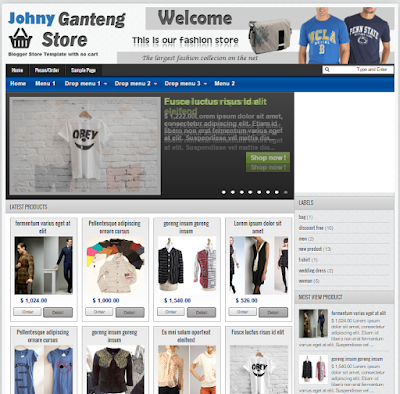 Free Download Toko Online Store Blogger Template