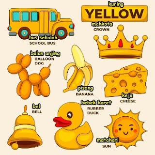 Kosa Kata Bahasa Inggris Tentang Warna (Colour)