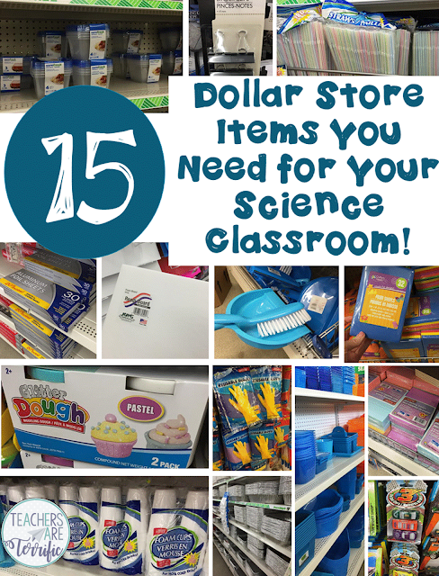 15 Supplies You Need from the Dollar Store with tips and hints about what not to buy there! Great for Science materials!