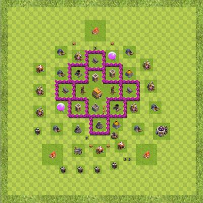 War Base Town Hall Level 6 By vinayan123 (testwar TH 6 Layout)