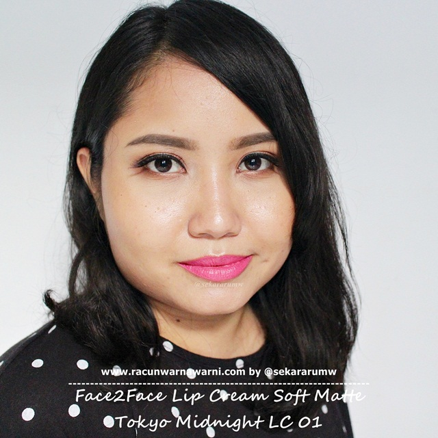 Swatch Face2Face Matte Lip Cream 01 Tokyo Midnight