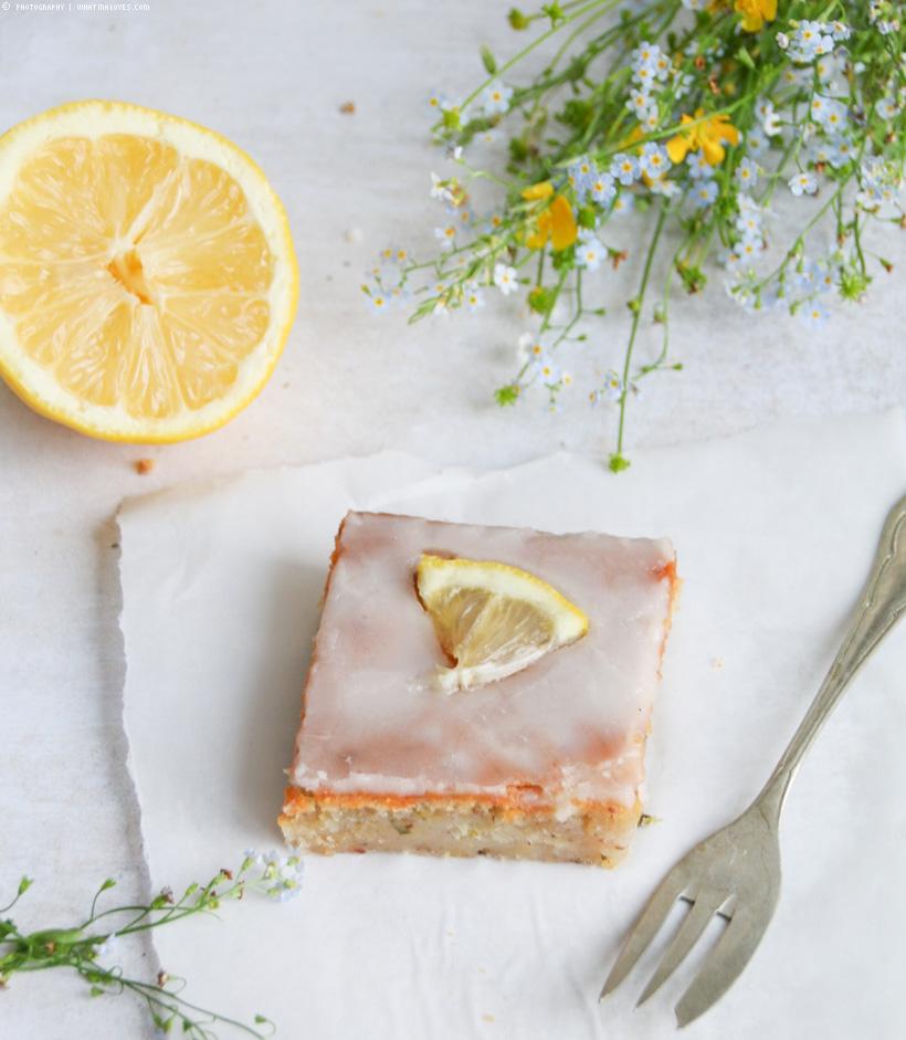 vegane Zitronen-Zucchini-Schnitten