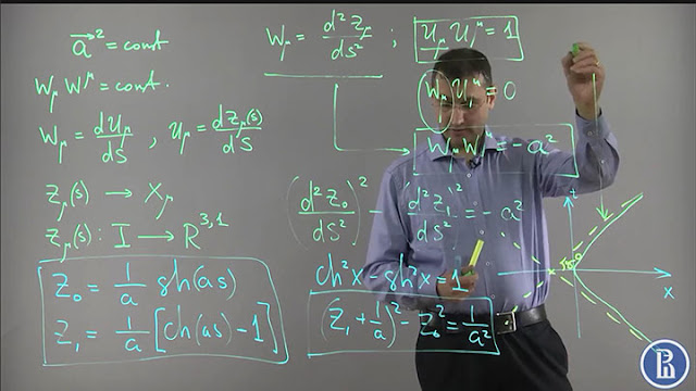 Dr. Emil Akhmedov lectures on General Relativity (Source: www.coursera.org)