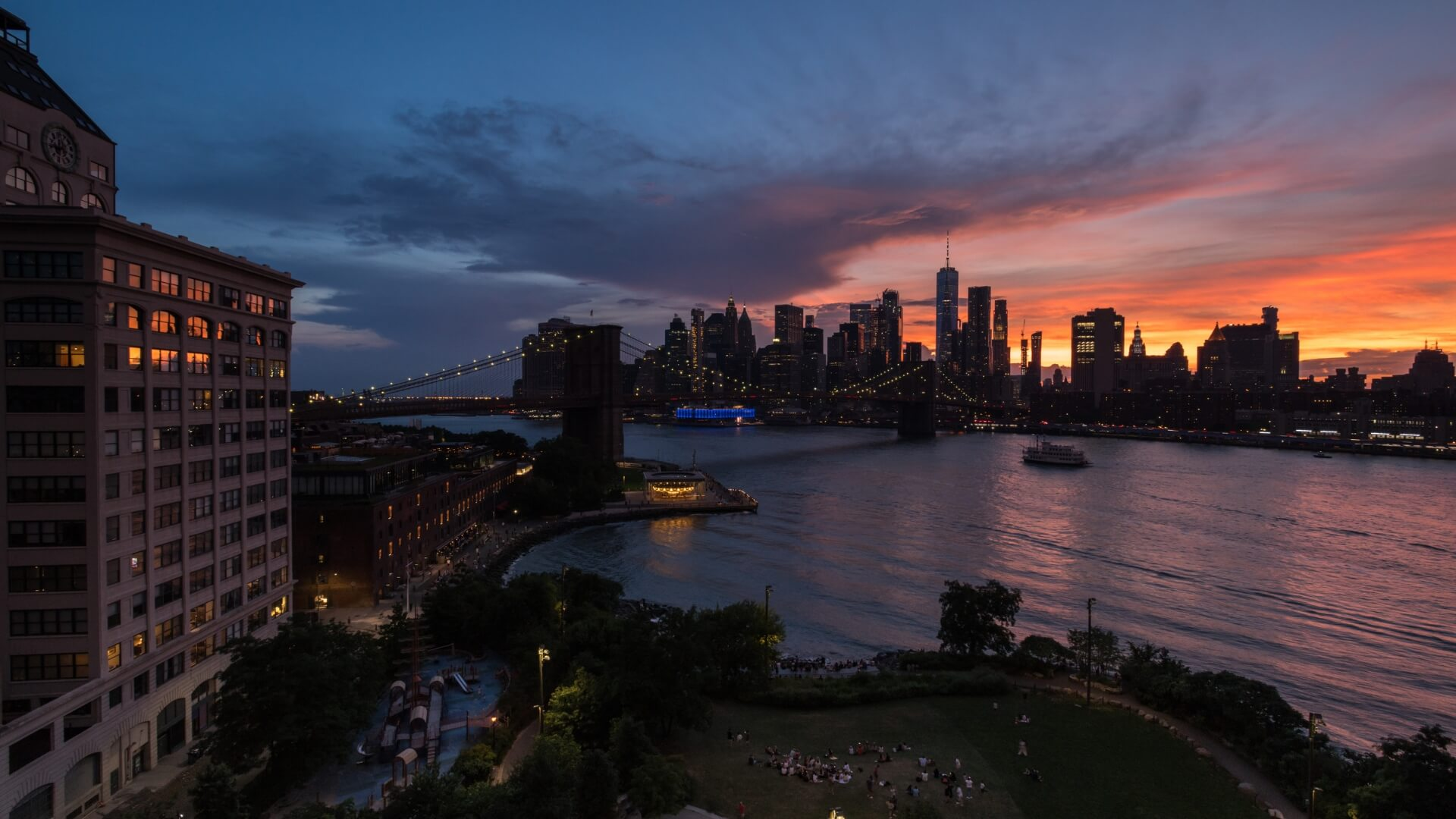 new york evening picture