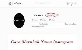 Cara Merubah Nama Akun Instagram