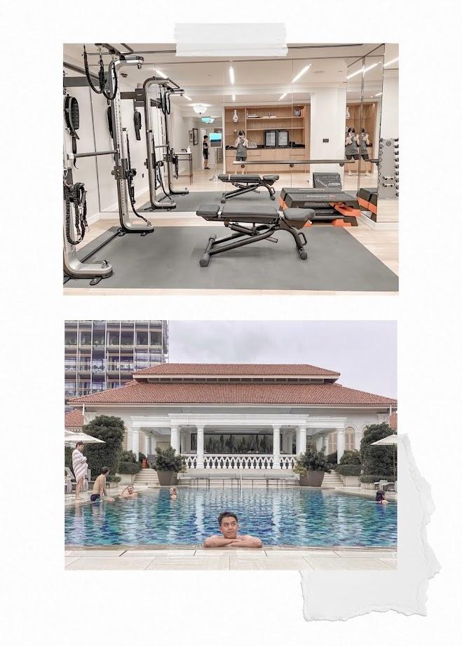 raffles hotel pool and gym