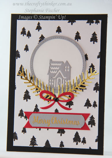 #cardmaking, #stampinup, Hometown Greetings, Christmas card, Xmas, #thecraftythinker, Stampin' Up Australia Demonstrator, Sydney NSW, Pretty Pines