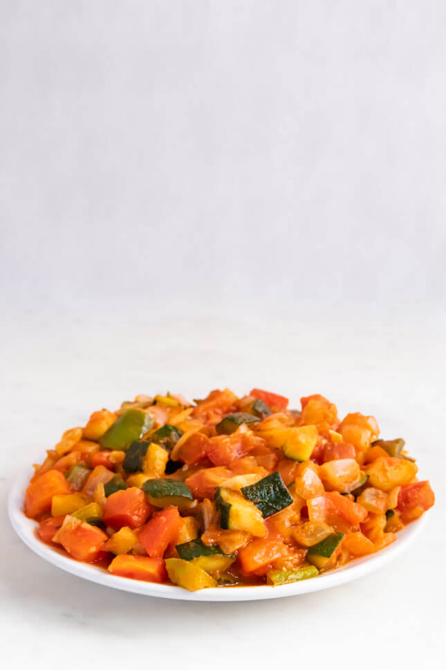 Photo of a container with ratatouille