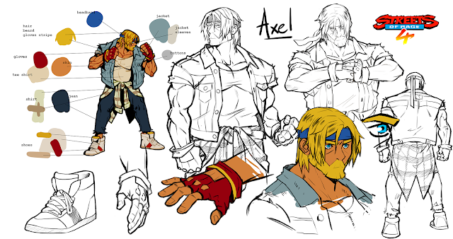 Streets of Rage 4 - Artwork de Axel
