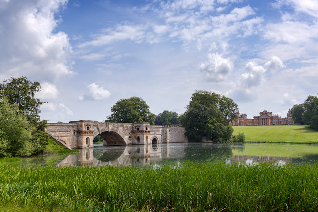 Capability Brown's Grand Bridge over the lake at Blenheim Park by Martyn Ferry Photography