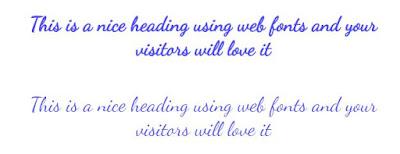 Dancing script web font