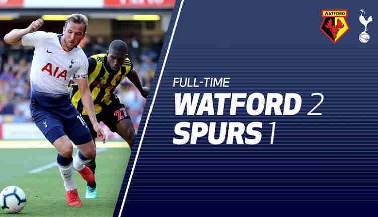 Hasil Watford vs Tottenham Hotspur Skor Akhir 2-1 [Premier League 2018]