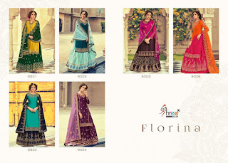 Shree Fab Florina  Wedding Georgette Salwar Kameez Collection