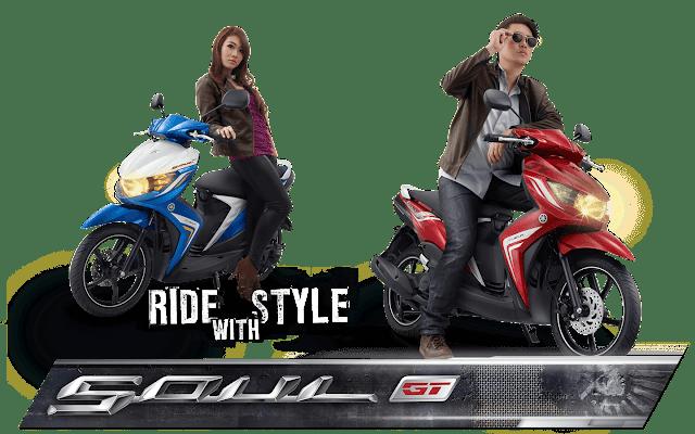 Yamaha Soul GT terbaru dengan didukung teknologi canggih ini merupakan motor produksi yamaha. Tampilan body motor yang lebih sporty berkonsep street racing adalah ciri khas Yamaha Soul GT yang juga lebih macho. Penutup samping body skutik ini begitu aerodinamis. Kapasitas bagasinya juga lebih luas dan besar untuk memuat barang-barang kebutuhan pengendara motor matic ini. Performa tinggi, fitur lengkap, dan desain gagah adalah gebrakan yang dimunculkan Yamaha lewat kehadiran matic Yamaha Soul GT ini.