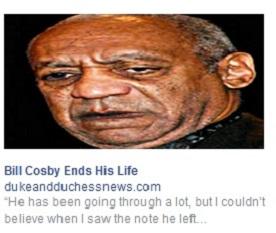 Bill Cosby suicide