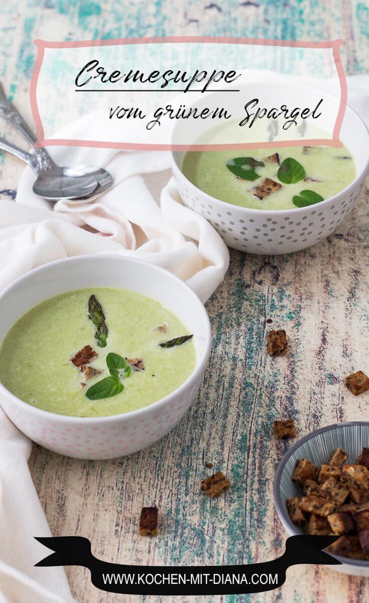 Cremesuppe vom grünen Spargel