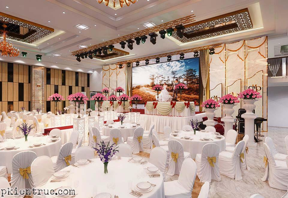 Render Nội thất trung tâm tiệc cưới sang trọng