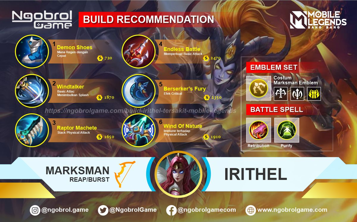 Build Irithel Top Global Tersakit Mobile Legends