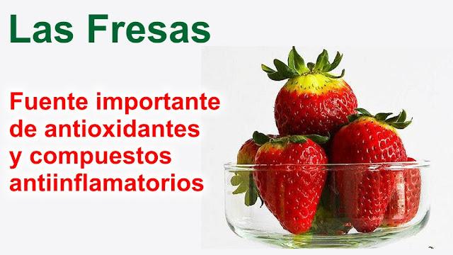 Las fresas son fuente importante de antioxidantes y compuestos antiinflamatorios