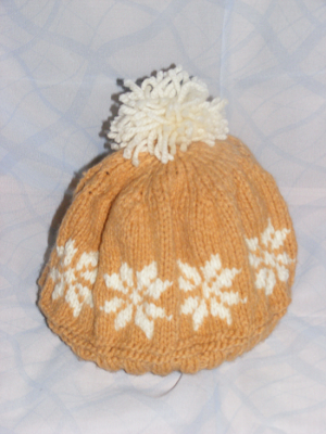 fes handmade tricotat manual unisex fulgi zapada model