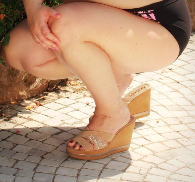 scarpe patrizia con zeppa e strass