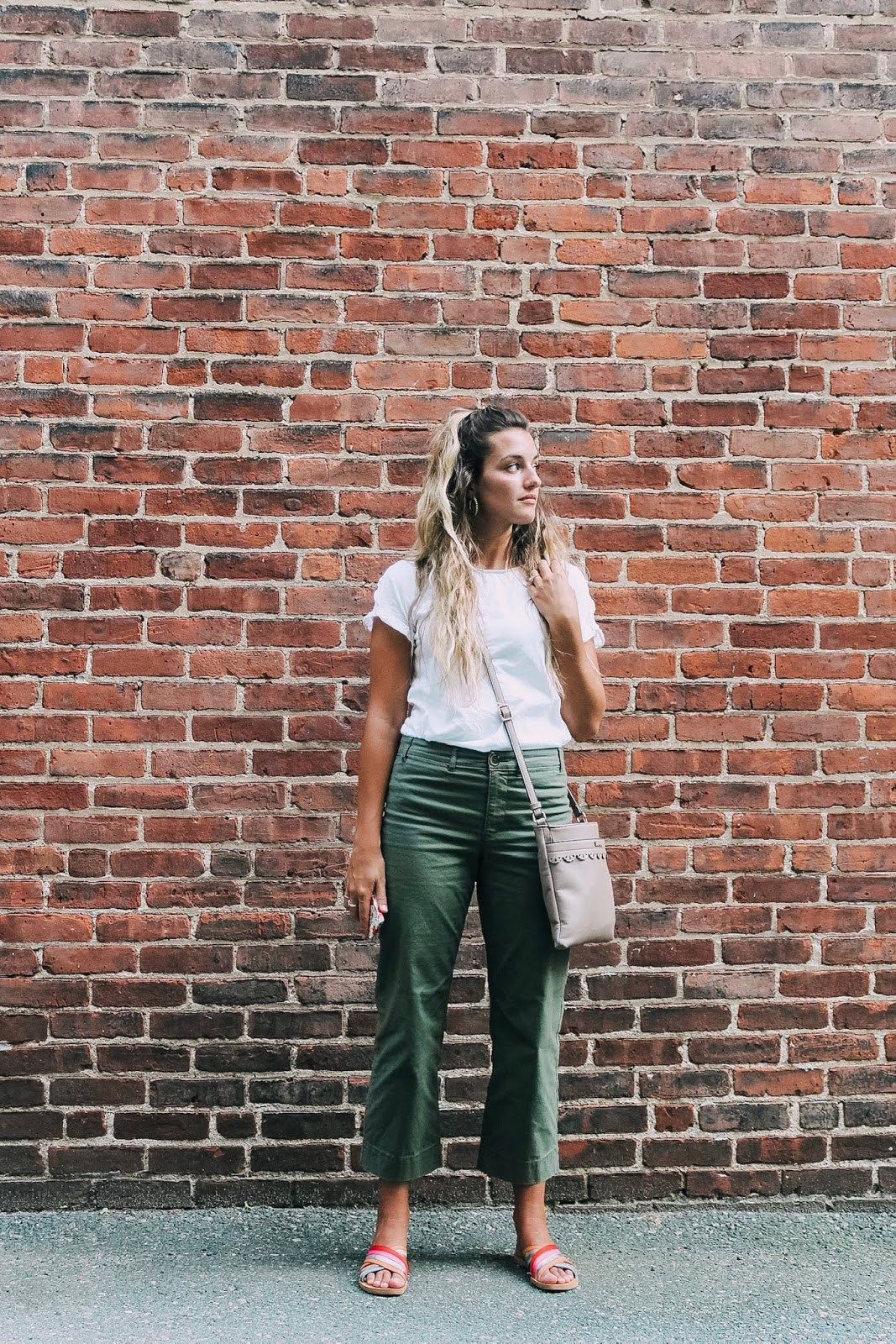 How to style cropped wide-leg pants