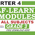 4th Quarter Self-Learning Modules Grade 3 All Subjects