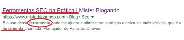 Use Palavra-chaves na Descrição do seu artigo no Blogger / blogspot