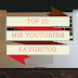 Top 10: Mis youtubers favoritos