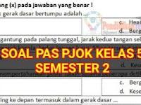 Soal PAS PJOK Kelas 5 SD/MI K13 Semester 2 dan Kunci Jawaban