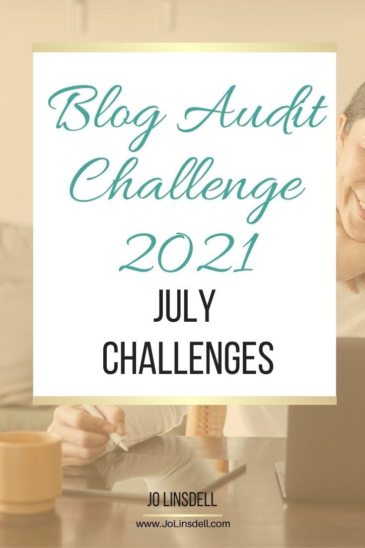 Blog Audit Challenge 2021: July Challenges