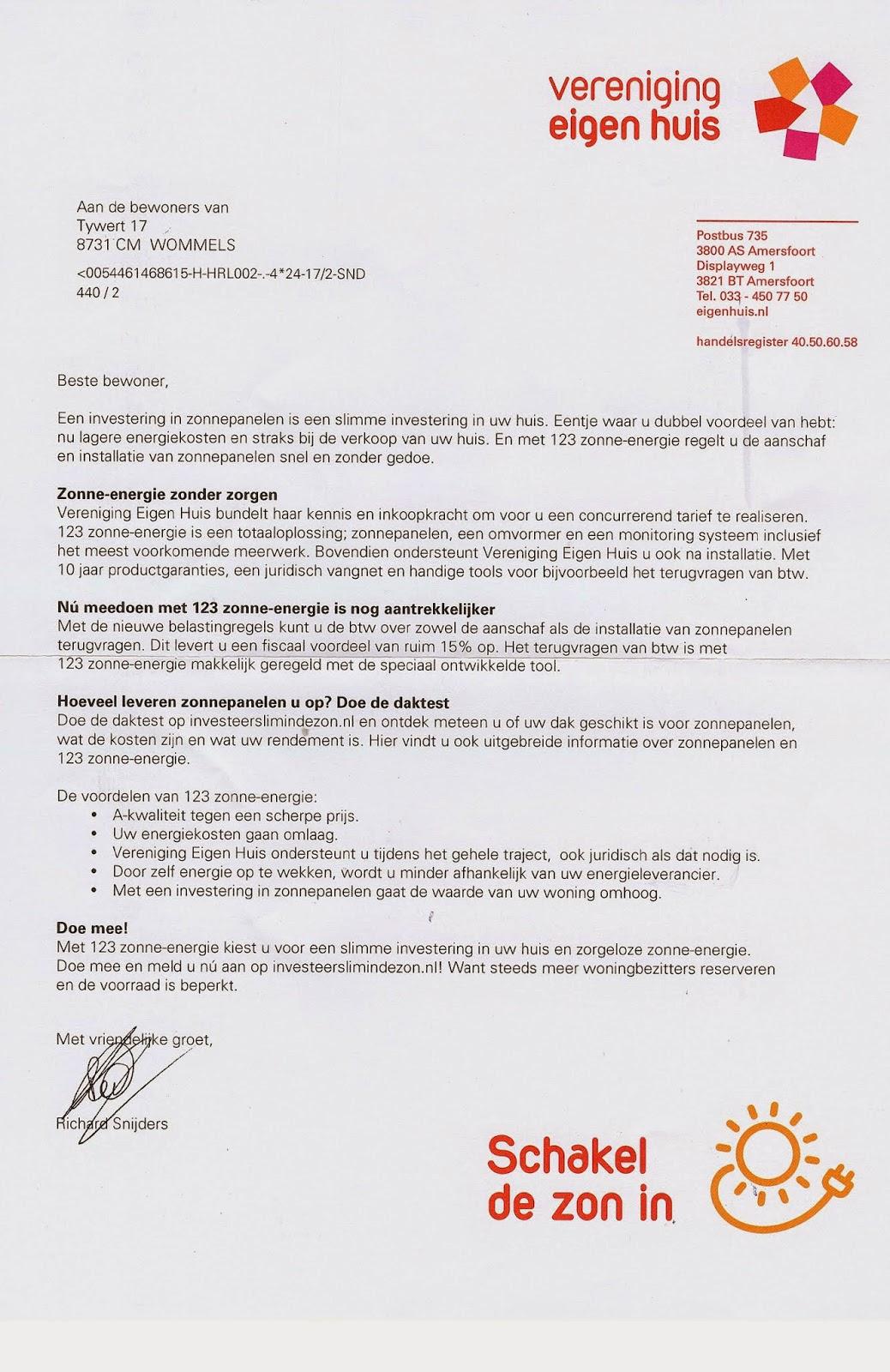 voorbeeld verkoopbrief brief Voorbeeld Verkoopbrief Brief | gantinova