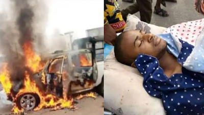 Angry Youths Set Police Vans Ablaze As Trigger-happy Policeman Kills One (Video)