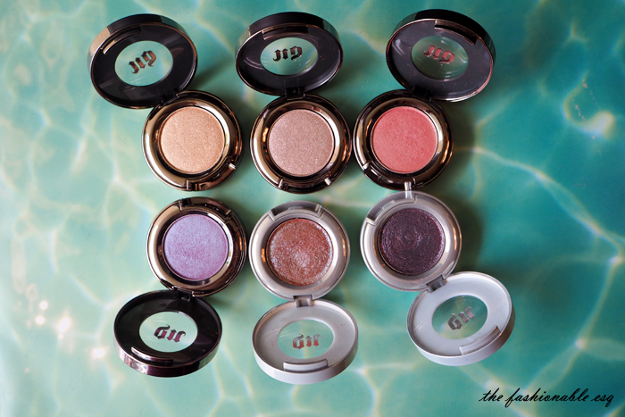 Urban decay shadows Tonic Solstice Either Midnight Cowboy Rides Again Half Baked Scratch