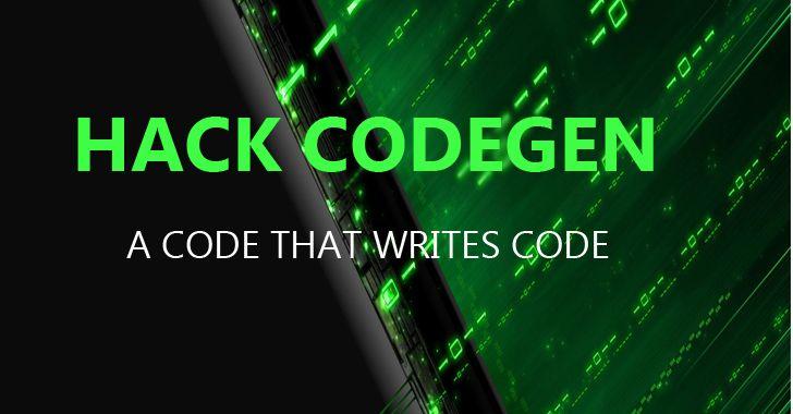 Hack Codegen - Facebook Open-Sources Code That Writes Code