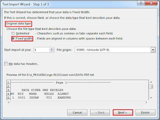 konversi pdf excel dengan foxit reader