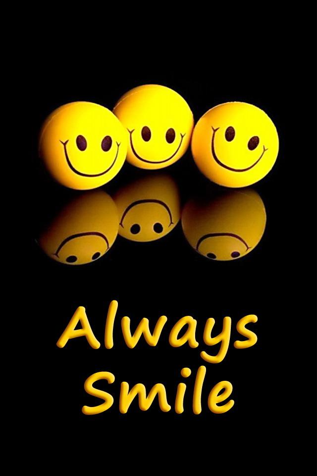 iPhone Always Smile Wallpaper