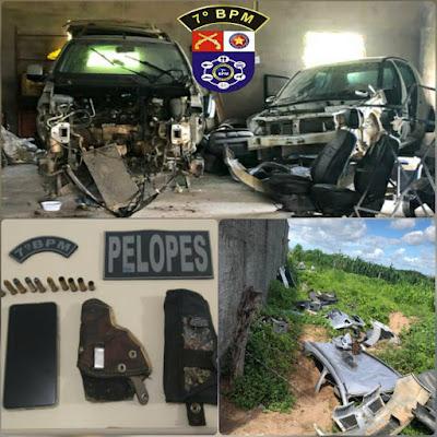 Em Pão de Açúcar, homens são presos por adulteração de sinal identificador de veículo, roubo, receptação e posse irregular de munições de arma de fogo