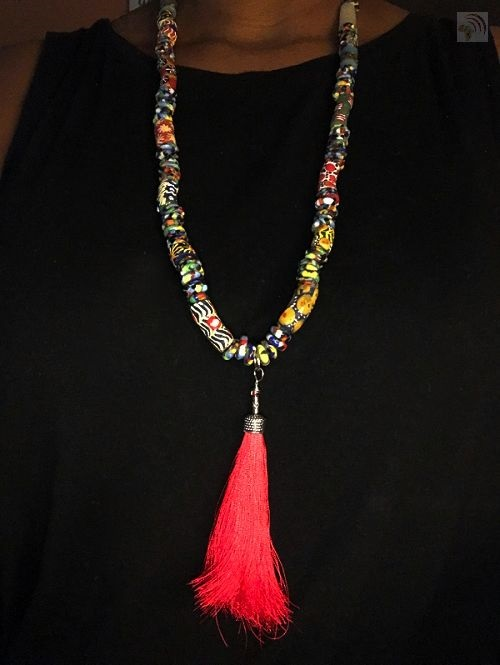 How to Make a Ghana Glass Beaded Necklace