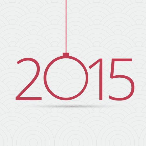 Fondo del 2015 sencillo - vector