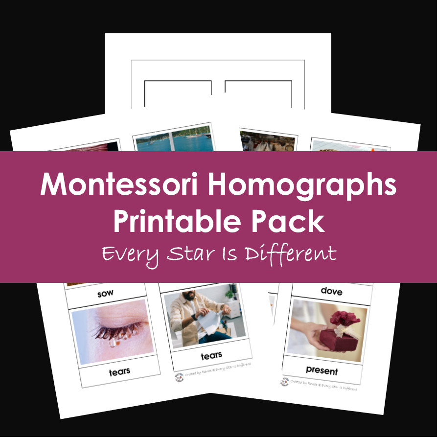 Montessori Homographs Printable Pack