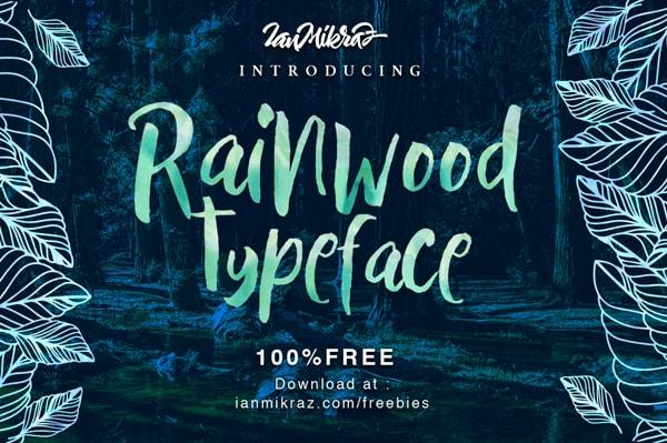 Brush font terbaik 2017 - Rainwood – Free Brush Font