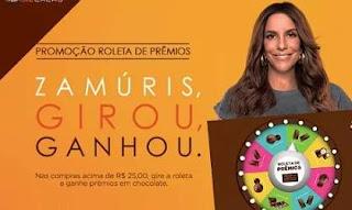 Promoção Brasil Cacau Chocolates 2018 Roleta Prêmios Girou Ganhou