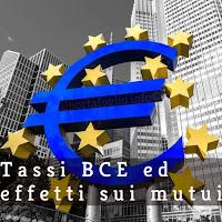 effetti sui mutui dei tassi bce