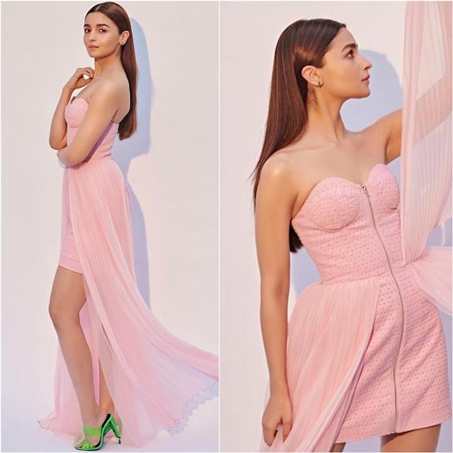 Alia Bhatt in a Pink Gown by Annakiki