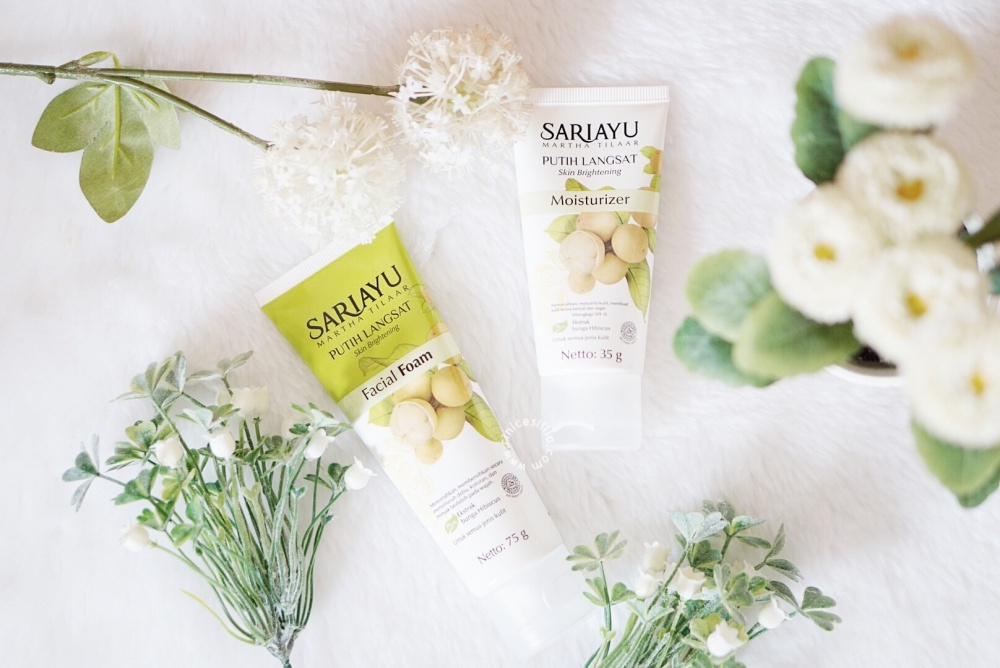SARIAYU PUTIH LANGSAT FACIAL FOAM AND MOISTURIZER REVIEW