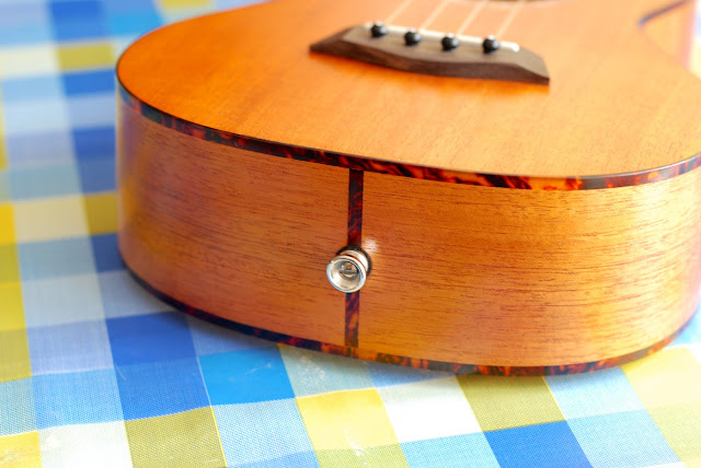 Islander MST-4 ukulele tail and binding