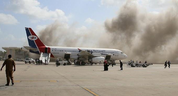 Vídeo registra ataque em aeroporto na chegada do novo governo do Iêmen