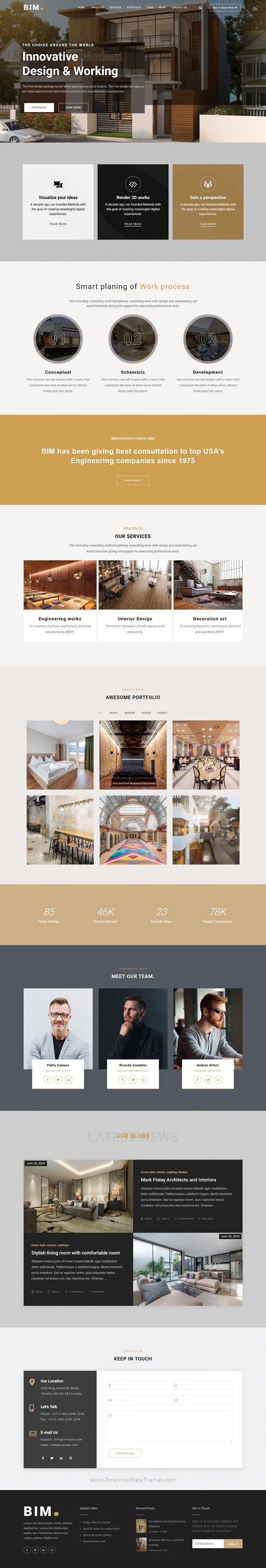 Architecture & Interior website template