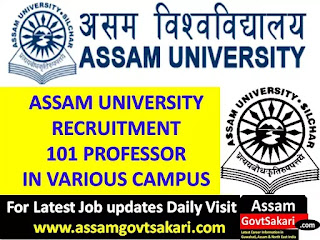Assam University Recruitment 2019